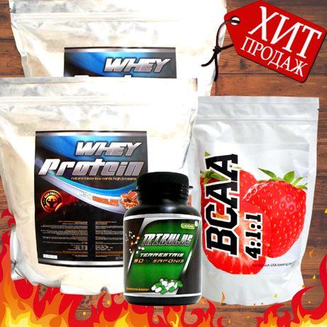 Титан Масс Комплекс: 4 кг Протеина (78% белка) ВСАА 4:1:1 + Трибулус
