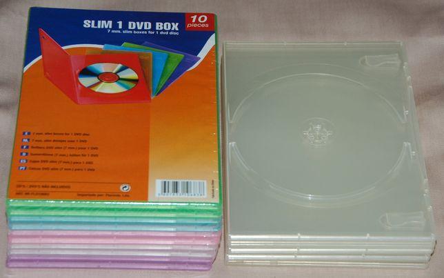 15 capas slim para cd/dvd (novas)