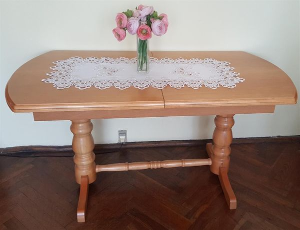 Stół, Ława rozkładana, podnoszona, drewniana BUK