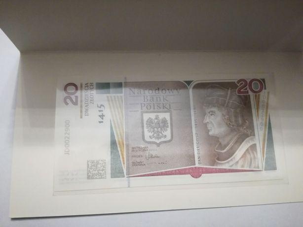 Banknot kolekcjonerski 20zł Jan Długosz