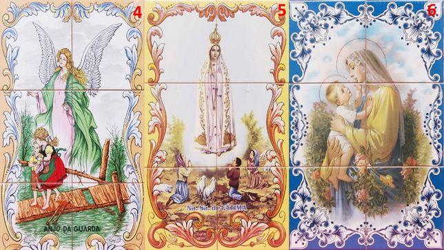 Painel de Azulejos Sagrada Família São José Padre Cruz Santa Teresinha