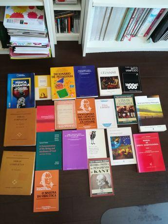 Diversos livros - filosofia, ética, matemática, estética