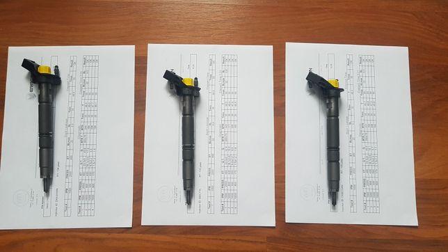 Wtryski Audi Vw 3.0 tdi 3 sztuki z wydrukami parametrów
