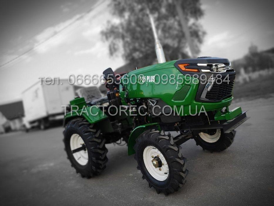 Трактор ZUBR Т-25 GREEN+фреза+плуг! Мототрактор ЗУБР Т250, мінітрактор
