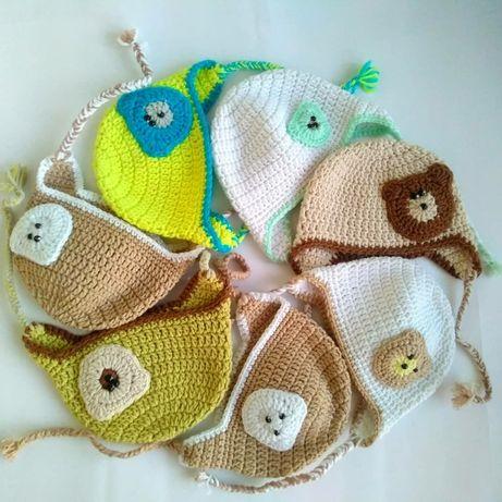 Шапка для новорожденного, плюшевые шапки, чепчик.
