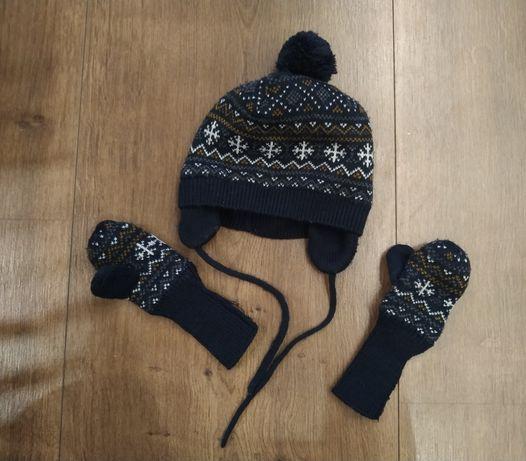 Czapka i rękawiczki H&M 74-80