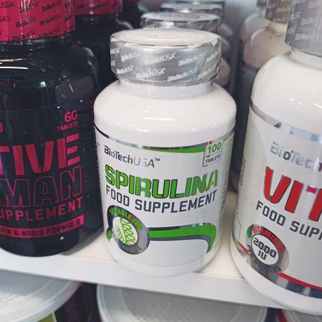 Biotech Spirulina 100tab, Witaminy, Algi, Suplementy diety, Odżywki