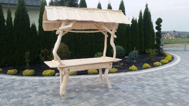stół wiejski z bali