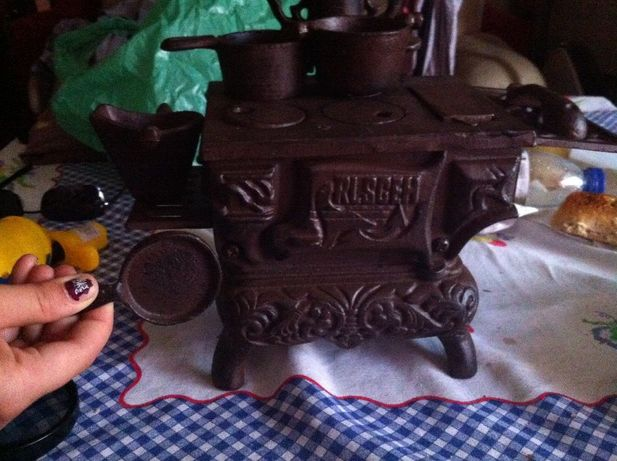 replica de fogao a lenha (em ferro fundido)
