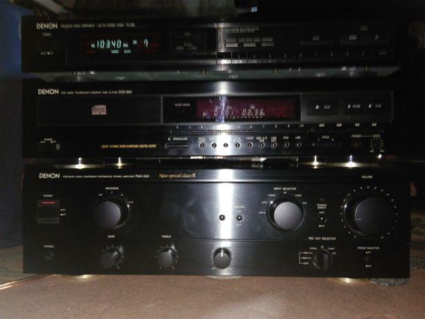 Zestaw stereo, wieża Denon - wzmacniacz, tuner, CD, PMA-560, DCD-860.