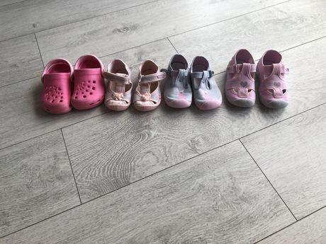 Zestaw bucików dla dziewczynki22-23