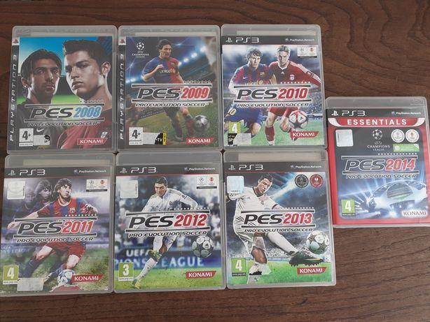Jogos PlayStation 3 PES de 2008 a 2014 com manuais originais