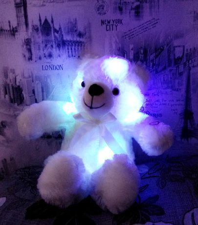 Мишка в ПОДАРОК! Светящийся плюшевый с LED подсветкой, ночник