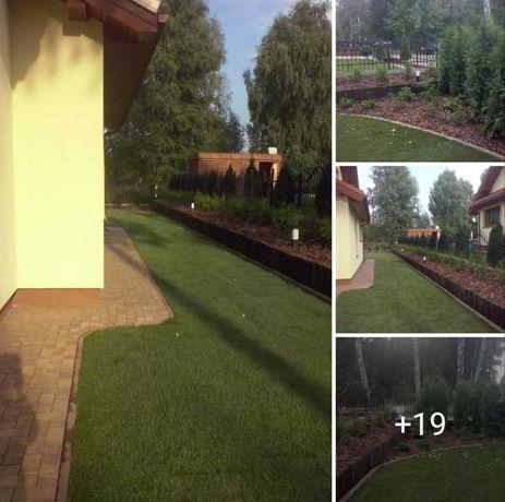 Usługi ogrodnicze, trawniki z rolki i siewu, systemy nawadniające