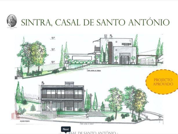 Terreno em Sintra com projecto aprovado para moradia de 2...