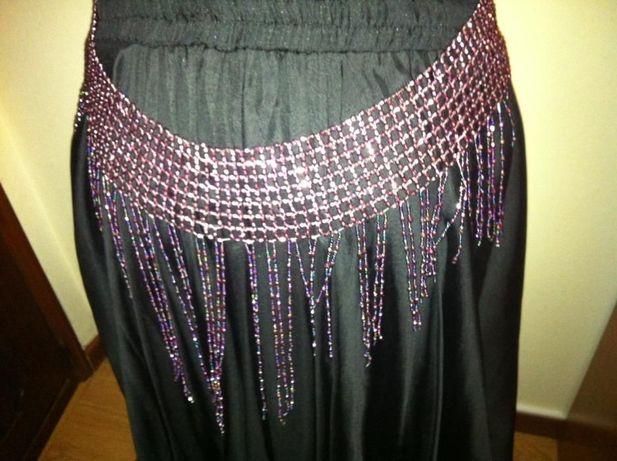 Cinto missangas violeta dança oriental
