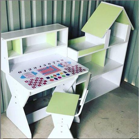 Комплект детский парта со шкафом, домиком, детская мебель Украин