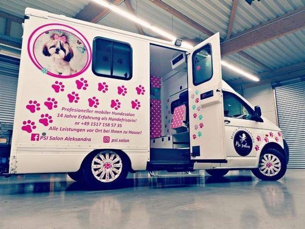 Volkswagen t5 salon strzyżenia psów mobilny salon