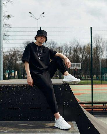 СКИДКА! Спортивный Мужской костюм комплект Штаны + Футболка черный