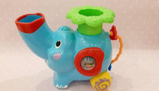 Музыкальный слоник каталочка, игра