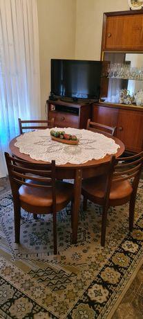 Mesa redonda madeira rustica