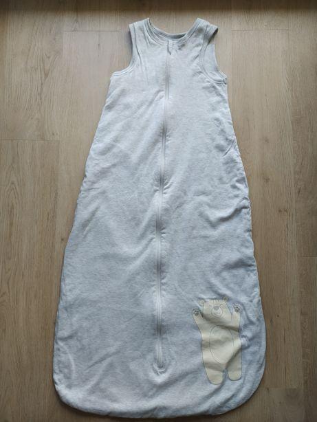 Bawełniany śpiworek r. 110 dla starszych misiowych śpioszków