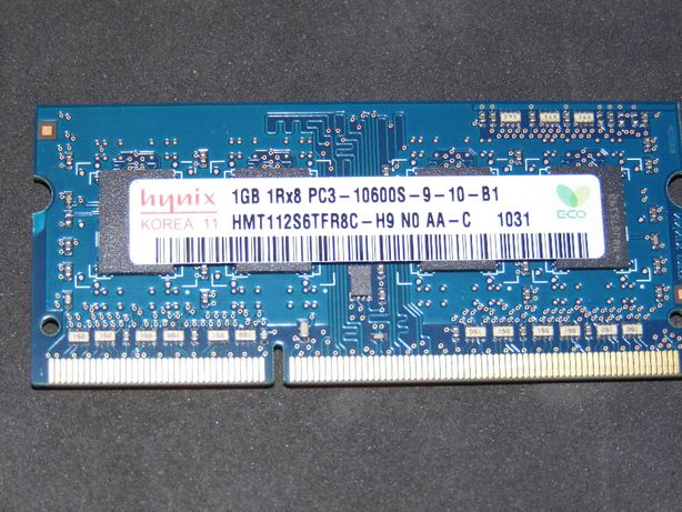 Memória computador marca Hynix 1GB DDR3 PC3 10600S