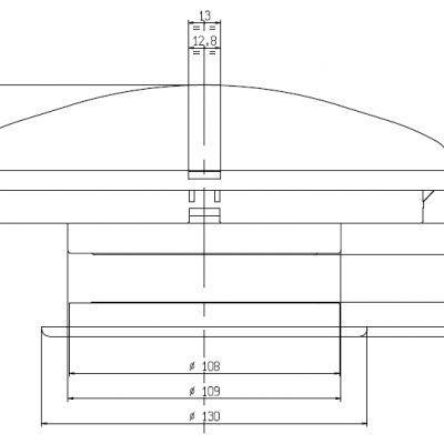 Ventilador de teto branco zadi 110mm autocaravanismo barco
