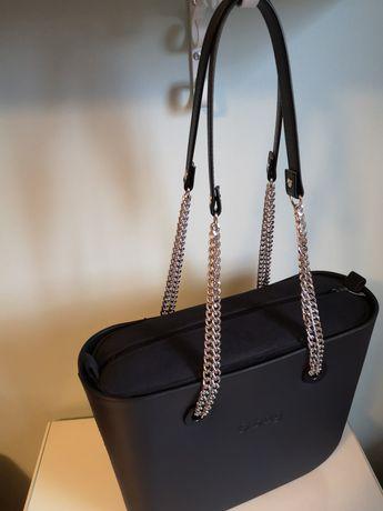 Nowe uchwyty TYPU GLAM łańcuszek srebrny do torebki Obag
