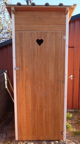 Toaleta drewniana, WC, Kibel na budowę,działkę