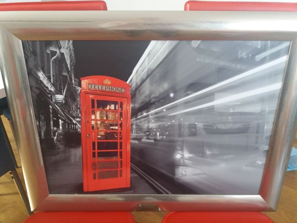 Obraz Londyn budka telefoniczna 83x63 cm