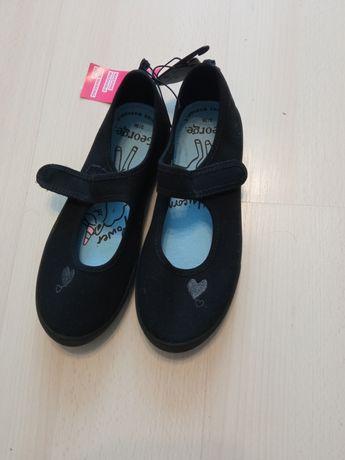 Buty czarne, dziewczęce! R. 36/37 NOWE!