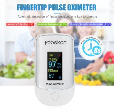 Oxímetro de dedo Yobekan, ecrã a cores com ECG, NOVO