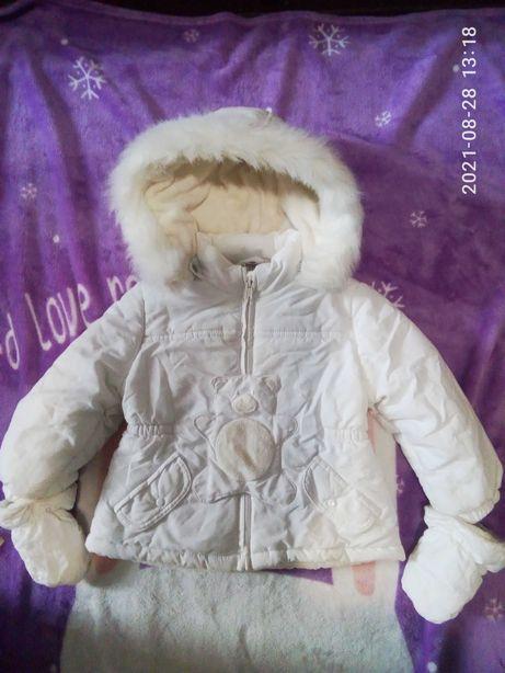 курточка зимняя на 1-2 года