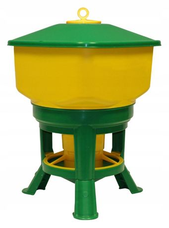 Karmidło karmnik Automat 20 kg paszowy dla drobiu na stojaku