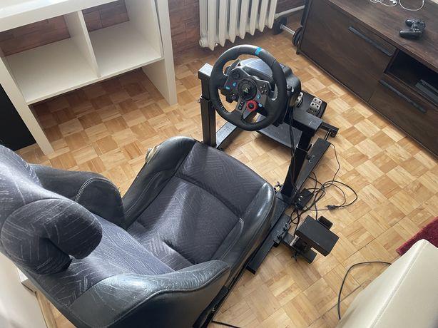 Stelaz wraz z fotelem i kierownica logitech g29
