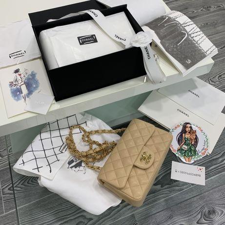 Сумка клатч Chanel 20 cm натуральная кожа