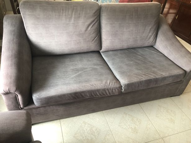 2 sofas cinza pouco uso