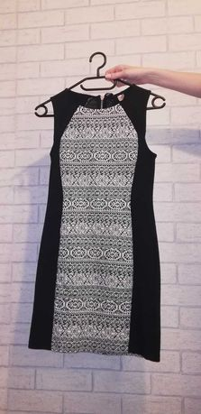 Sukienka h&m czarno-biala