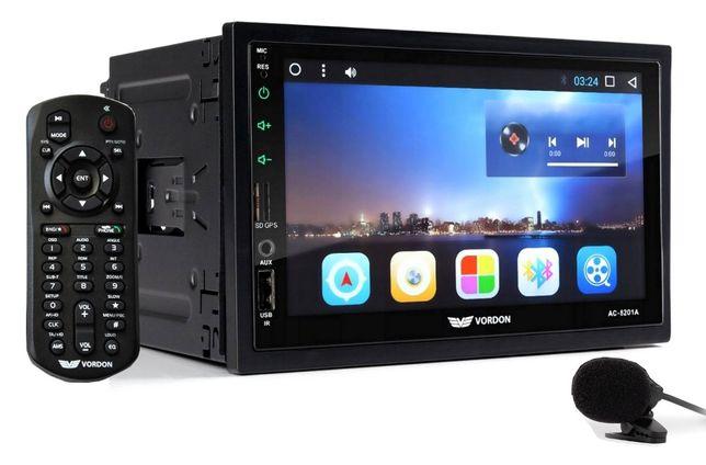 Nowe Radio Samochodowe VORDON 2DIN Nawigacja GPS USB 7' Android WiFi