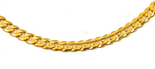 Złoty łańcuch kłuty pancerka 3935/31