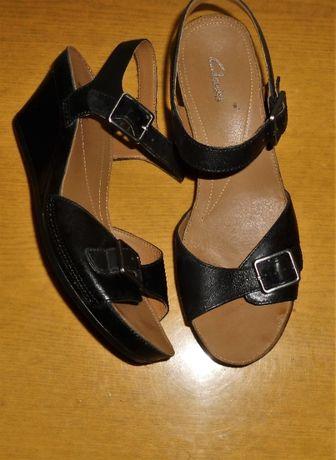 Clarks UK 6,5 -39,5 /26 CM/ sandały skórzane