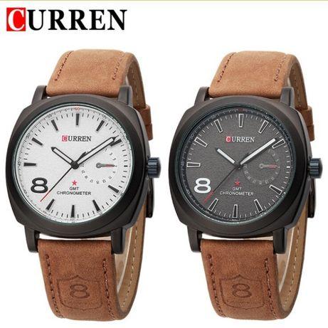 R0149 R0150 Relógio Quartz de Pulso CURREN - GMT Preto ou Branco