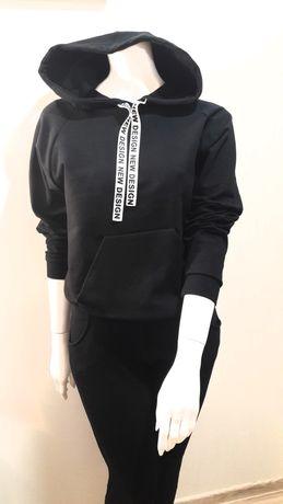 Bluza czarna z kapturem