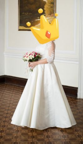Идеальное шикарное свадебное платье (можно для беременной )