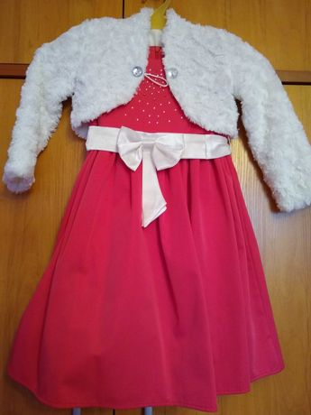 Sukienka rozm.116, bolerko, buty, wesele, urodziny, balik