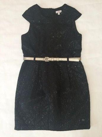 Школьное платье черного цвета р. 128-134-140