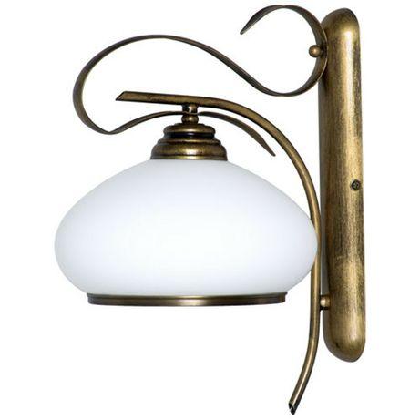 Kinkiet lampa Aldex stare złoto , biel, brąz x 2
