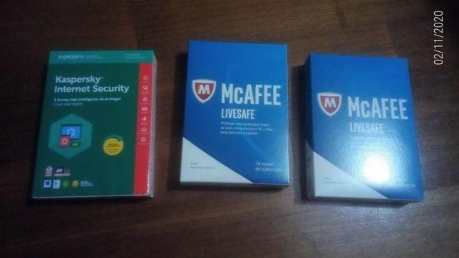 Licenças Originais e Seladas antivírus - Mcafee - Kaspersky