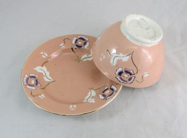 Tigela Taça Malga+Pires Porcelana Francesa Opaque Sarreguemines